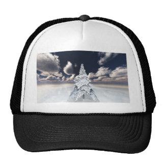 White xmas tree mesh hats