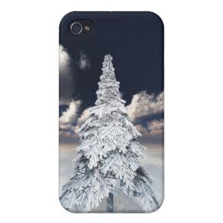 White xmas tree iPhone 4/4S cover