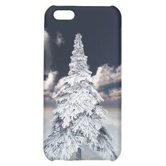 White xmas tree iPhone 5C case