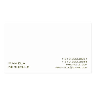 White XVs Business Card
