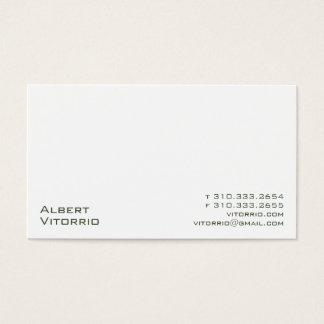 White XX Business Card
