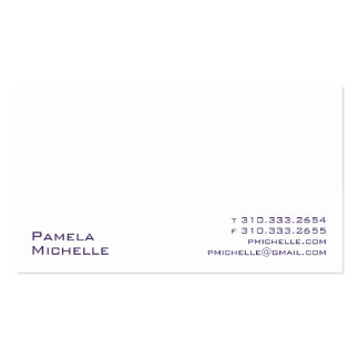 White XXI Business Card