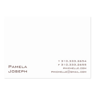White xxi large business card