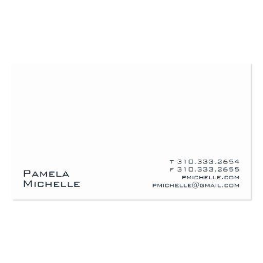 White XXIII Business Card Template