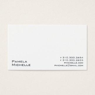 White XXIII Business Card