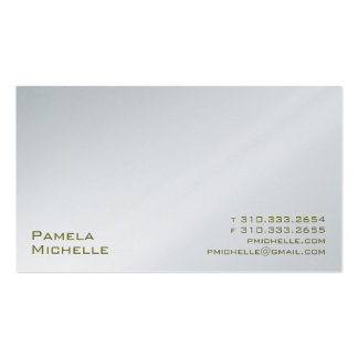 White XXMI Double-Sided Standard Business Cards (Pack Of 100)