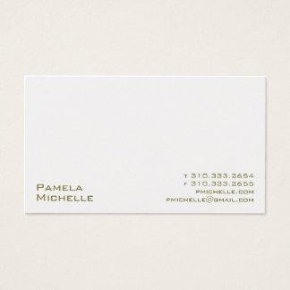 White XXMI Business Card