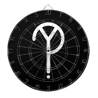 White Y? Symbol Dartboard