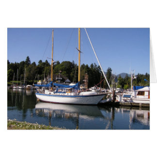White Yacht Card