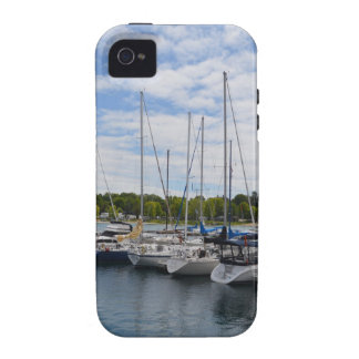 White Yachts moored at the Marina iPhone 4/4S Covers