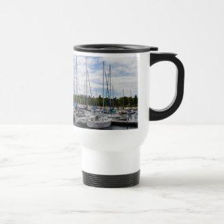 White Yachts moored at the Marina Coffee Mugs