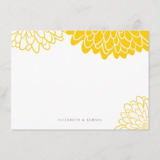 White Yellow Chrysanthemum Personalized Stationery Note Card