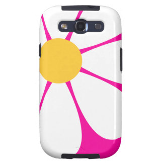 White & Yellow Daisy Flower on Hot Pink Samsung Galaxy SIII Case