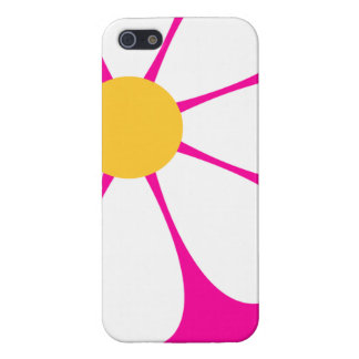 White & Yellow Daisy Flower on Hot Pink iPhone 5/5S Covers