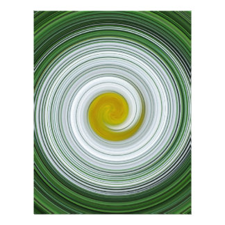 White, yellow, green spiral pattern letterhead