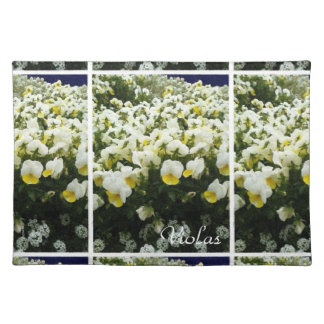 White & Yellow Johnny Jump Ups Violas Floral Placemat