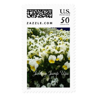 White & Yellow Johnny Jump Ups Violas Floral Postage