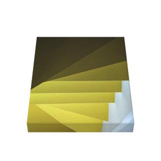 white yellow loft stairs canvas print