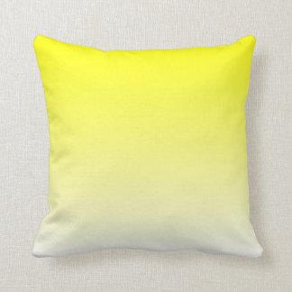 White Yellow Ombre Throw Pillow