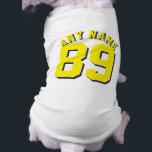 "White &amp; Yellow Pets | Dog Sports Jersey Design Tee<br><div class=""desc"">White &amp; Yellow Pets | Dog Sports Jersey Design • Dog Jersey Pet Clothing</div>"