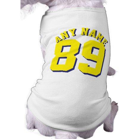 White & Yellow Pets | Dog Sports Jersey Design Tee