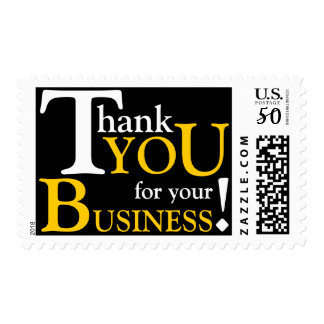 """White & Yellow """"Thank you for your Business"""" Postage"""