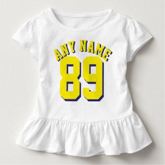 White & Yellow Toddler | Sports Jersey Design Toddler T-shirt