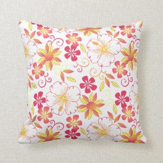 white_yellow vibrante de la almohada de tiro de la