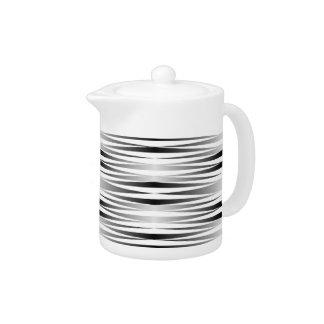White Zebra Small Tea Pot