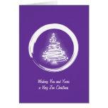 White Zen Christmas Tree Card
