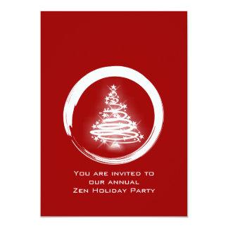 White Zen Christmas Tree 5x7 Paper Invitation Card