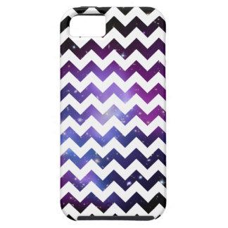 White Zigzag Purple Galaxy Cluster Case-Mate Case
