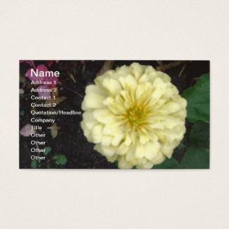 White Zinnia Business Card