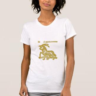 White  Zodiac Sign Capricorn  t-shirt