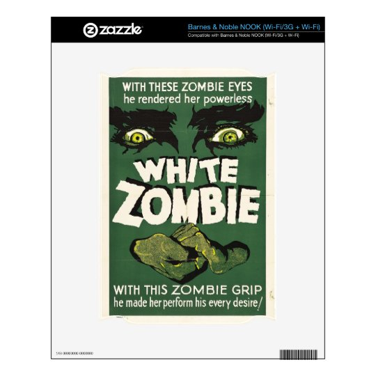 White Zombie Decal For The NOOK