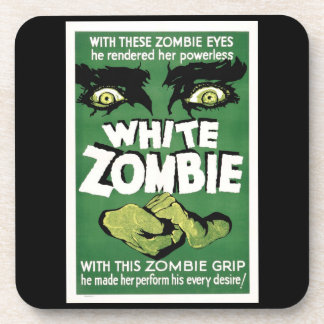 White Zombie Monster Movie Hard plastic coaster