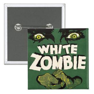 White Zombie Vintage Film Poster 2 Inch Square Button