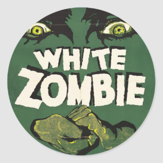 White Zombie Vintage Film Poster Classic Round Sticker