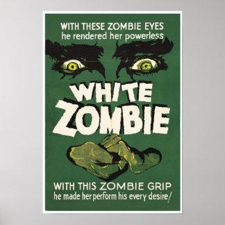 White Zombie Vintage Movie Poster print