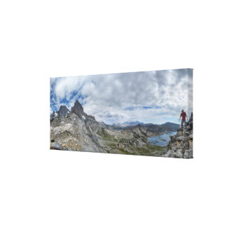 Whitebark Pass Nydiver to Garnet Lake - Sierra Canvas Print