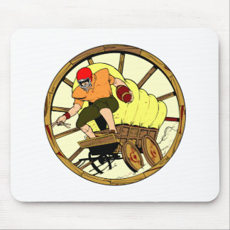 Whitebb Football Old West Wagon Mouse Pad