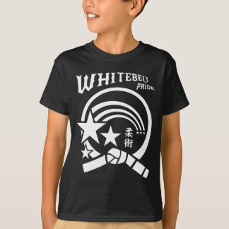 Whitebelt Pride Brazilian Jiu-Jitsu MMA Karate T-Shirt