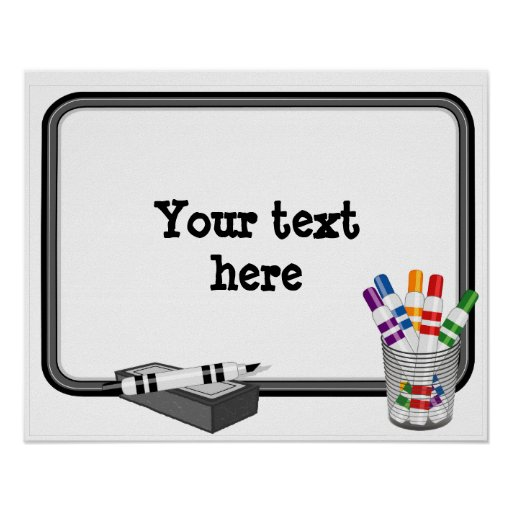 whiteboard customize your text poster zazzle