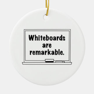 Whiteboards Are Remarkable Ceramic Ornament