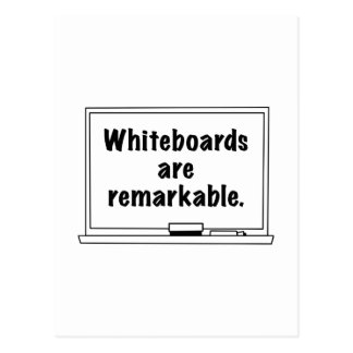 Whiteboards Are Remarkable Postcard
