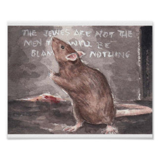 Whitechapel Rat at the Wall Poster
