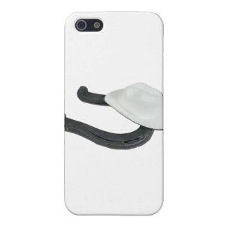 WhiteCowboyHatHorseshoe082611 Cover For iPhone 5