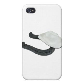 WhiteCowboyHatHorseshoe082611 iPhone 4/4S Cases