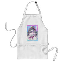 artsprojekt, marriage, painting, folk, bride, beauty, woman, white, bridal, romantic, wedding, girl, valentine's day, day, valentines, Apron with custom graphic design