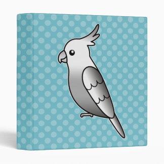 Whiteface Cartoon Cockatiel Parrot Bird Binder